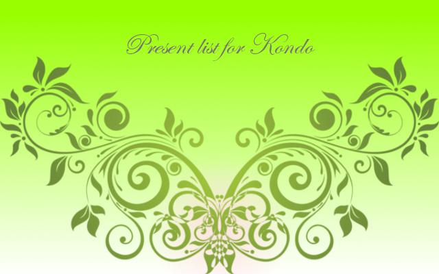 Present list for Kondo