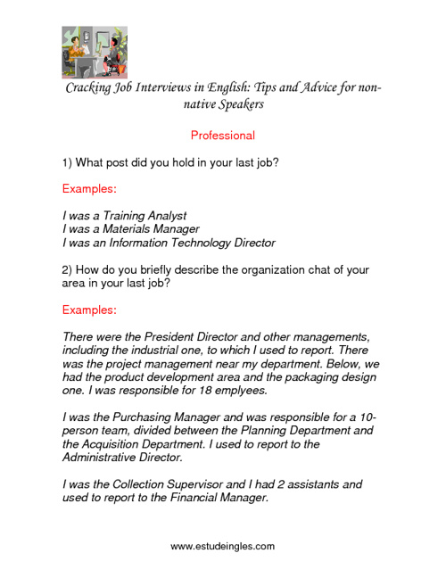 Cracking Job Interviews in English