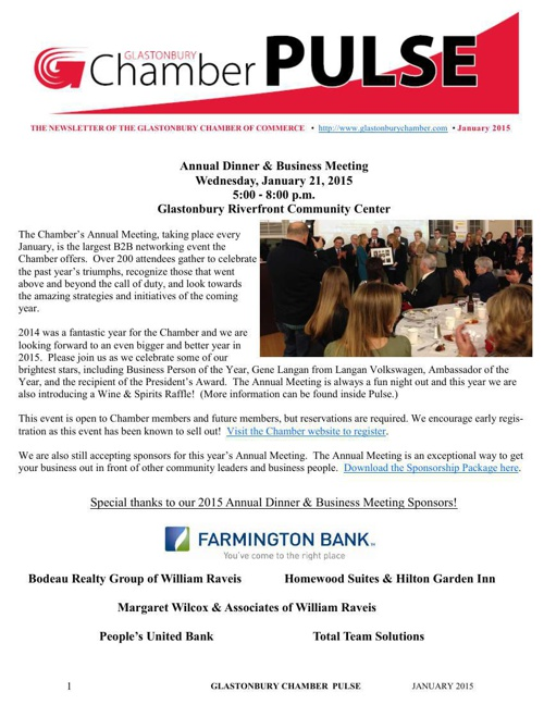Chamber Newsletter - January 2015