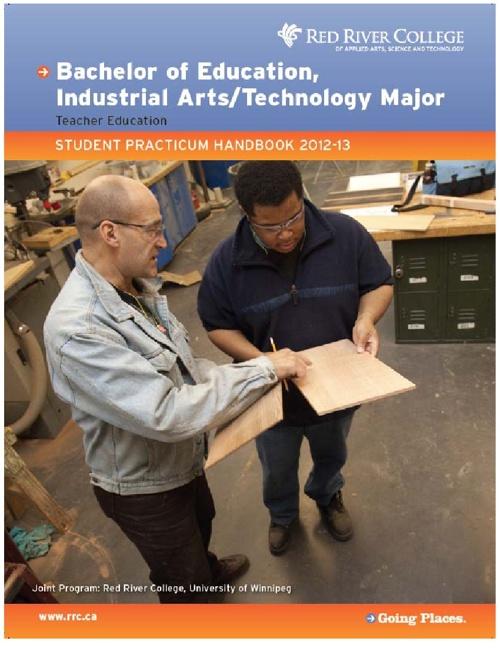 Industrials Art/Technology Student Practicum Handbook 2012-13