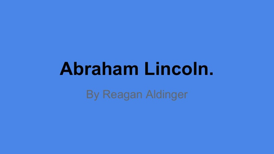 Copy of Abraham lincoln