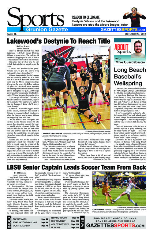 Gazette Sports | October 20, 2016
