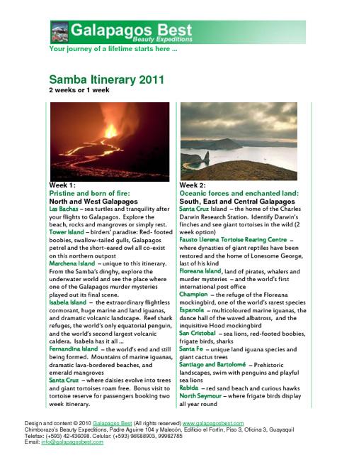 Samba 2011 Brochure