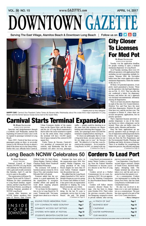 Downtown Gazette  |  April 14, 2017