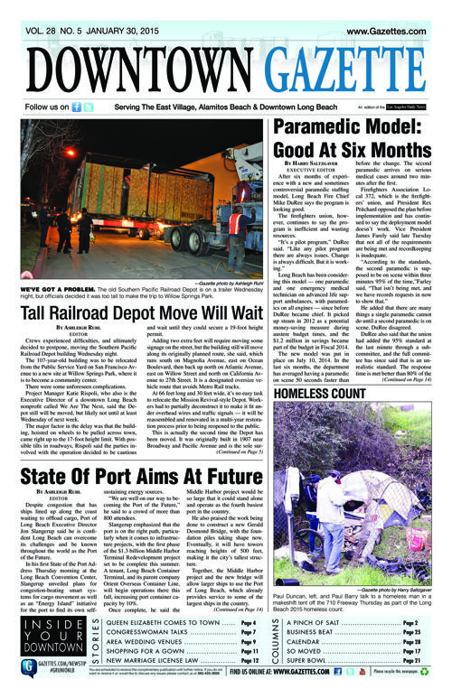 Downtown Gazette  |  January 30, 2015