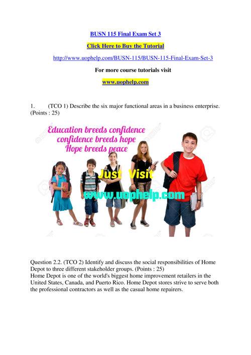 BUSN 115 Read, Lead, Succeed/Uophelpdotcom