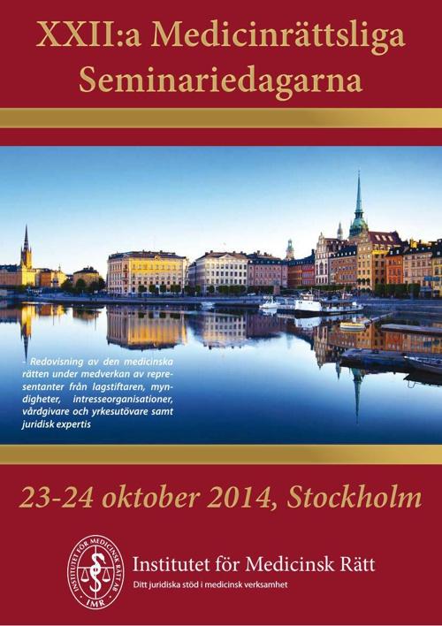 Medicinrättsliga Seminariedagarna 2014