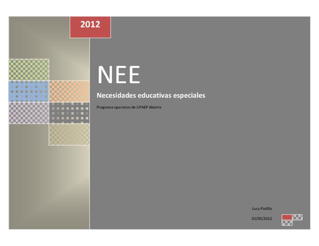 Programa operativo NEE