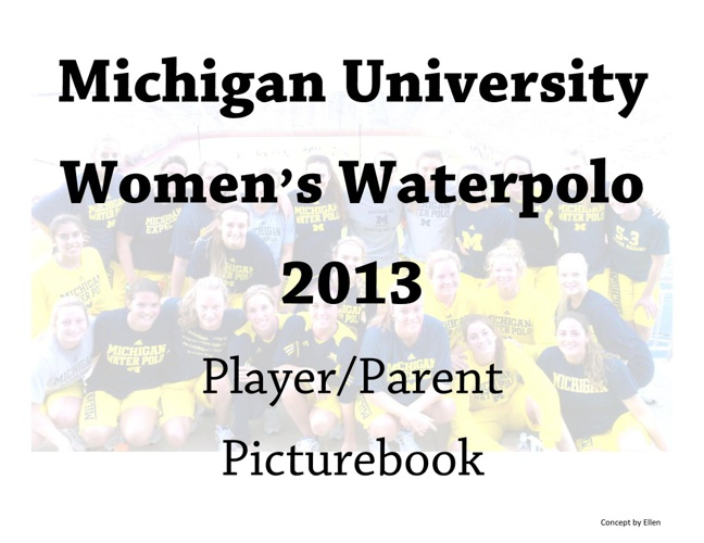 Michigan W h2o Polo 2013 Pictbook