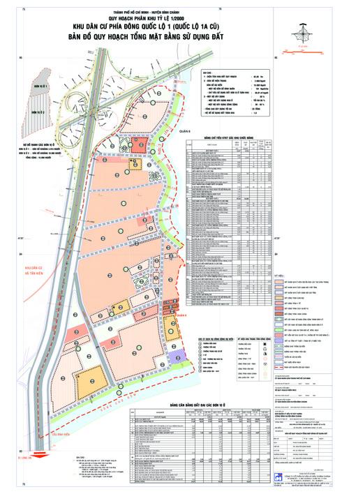 Đồ án quy hoạch KDC phía Đông Quốc lộ 1 (QL 1A cũ) xã TK