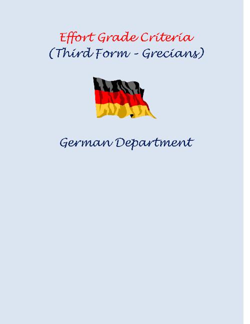 Effort Grade Criteria (German)