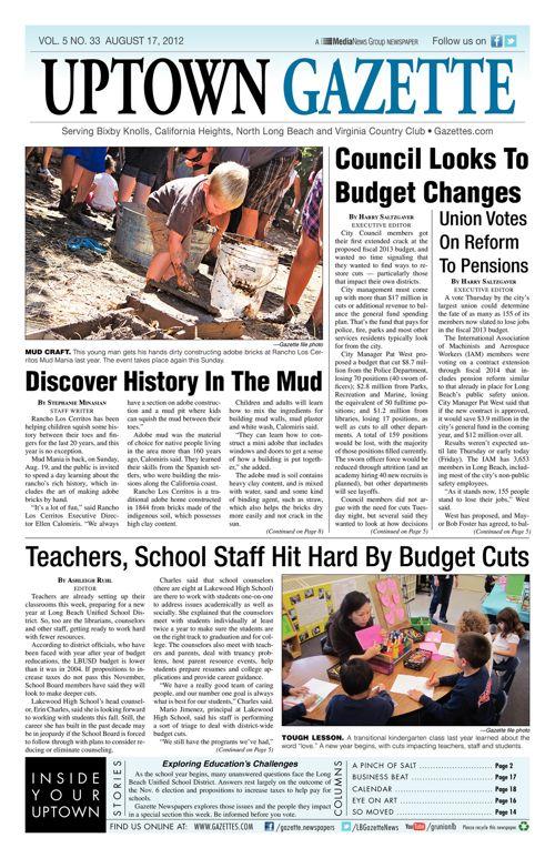 Uptown Gazette  |  August 17, 2012