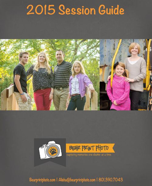 Bear Print Photo 2015 Session Guide