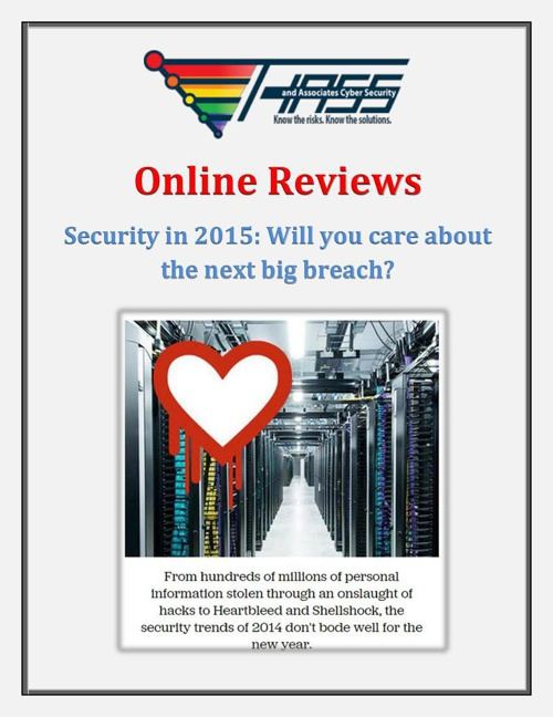 Hass & Associates Online Reviews - Security in 2015: Will you ca