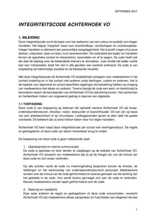 Integriteitscode Achterhoek VO, versie september 2017