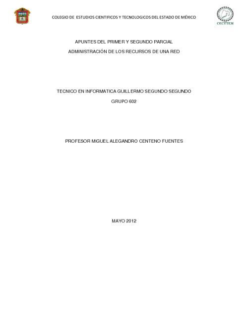Apuntes de Sexto Semestre(Guillermo Segundo Segundo 602)