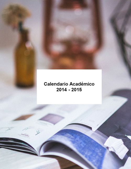 Copy of Calendario académico 2014-2015