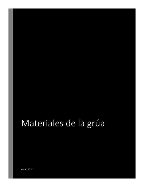 Materiales grua