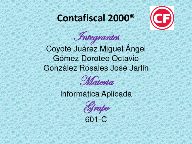 presentacion Control 2000