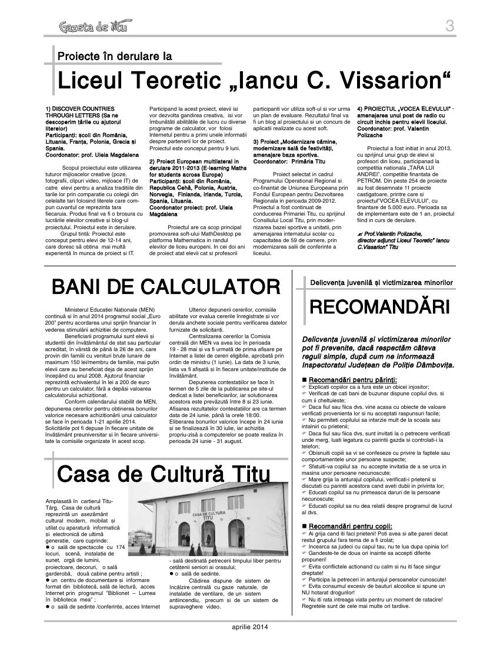 GAZETA DE TITU/NR01