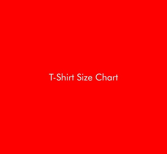 CompanyStore.IN - T-Shirt Size Chart