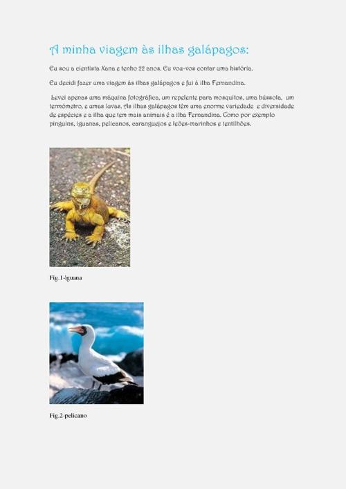 A minha viagem às ilhas galápagos