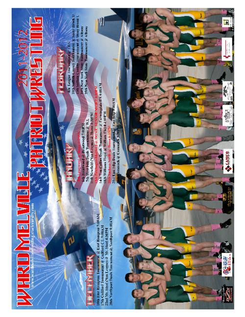 2012 Patriots Wrestling Booster Club Program