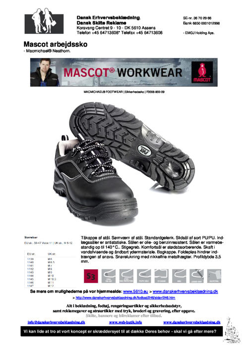 246 Mascot arbejdssko - Macmichael® Nesthorn - til job og fritid