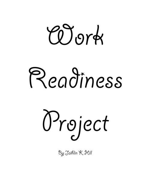 Work Readiness project