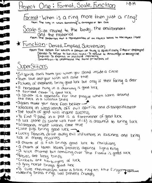 Winter 2014 sketchbook