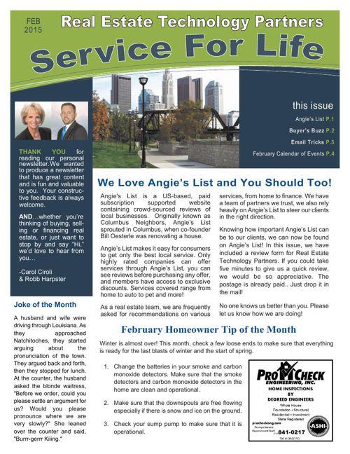 RETP February Newsletter