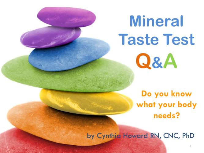 Mineral Taste Test Q & A
