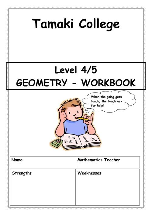Geometry Workbook A