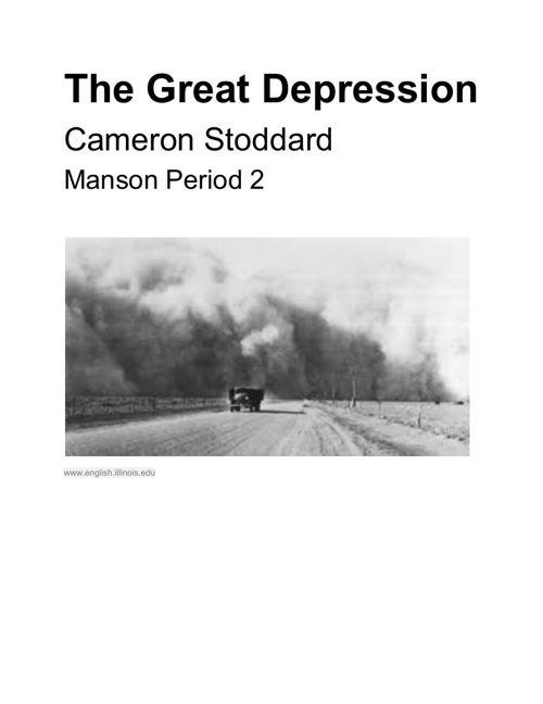 GreatDepressionProject