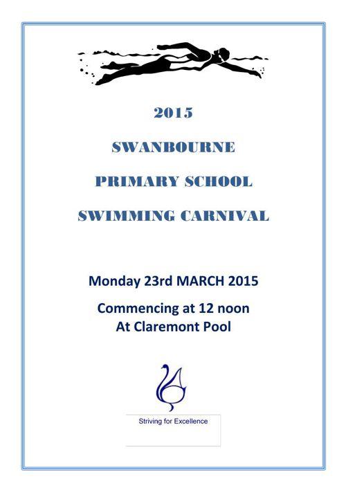 Swim Carnival Program