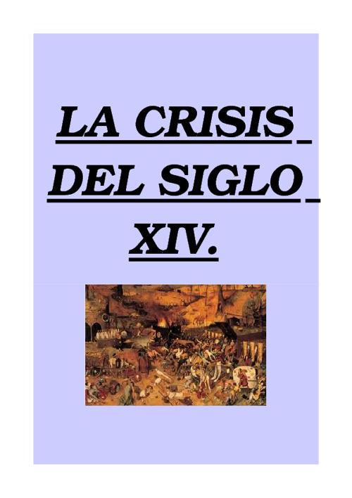 La crisis del siglo XIV