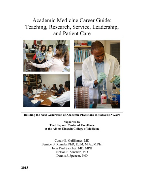 Academic Medicine Career Guide