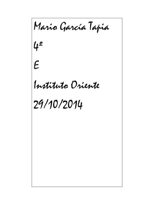 Mario Garcia Tapia Recordatorio