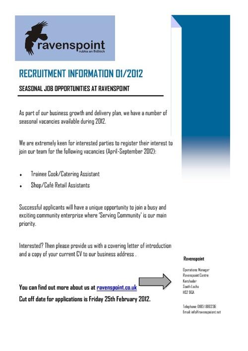 Ravenspoint  Job Vacancies