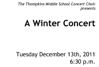 Thompkins Choir Winter Concert 2011