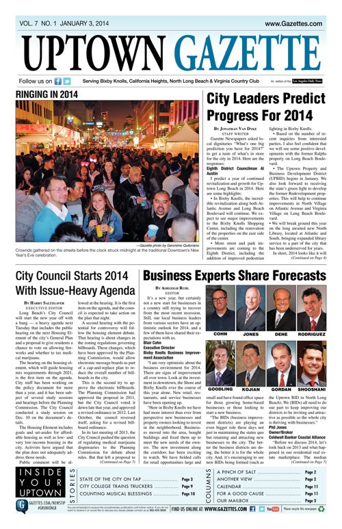 Uptown Gazette  |  January 3, 2014
