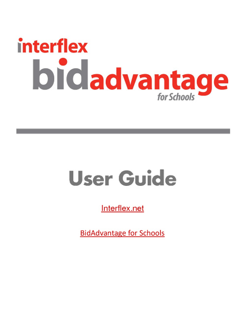 BidAdvantage for Schools PDF Guide