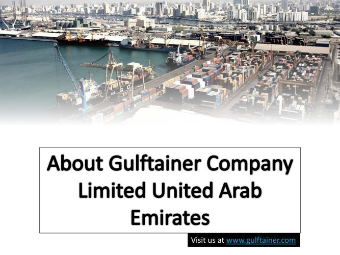 About Gulftainer Company Limited United Arab Emirates
