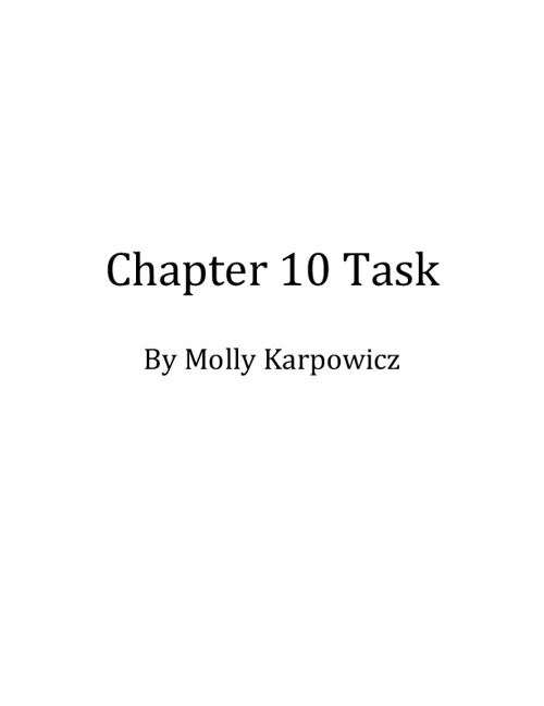 Chapter 10 Task