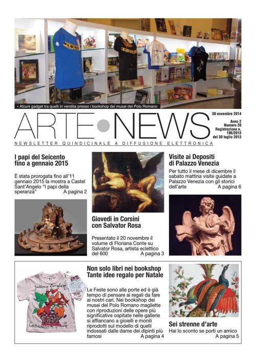"""""""Arte News"""" - 30 novembre 2014"""