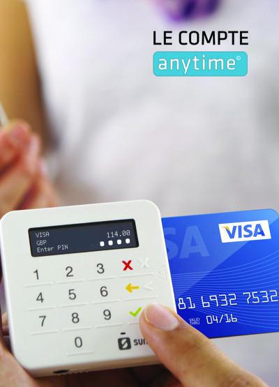 Terminal de paiement Compte Anytime - Mode d'emploi