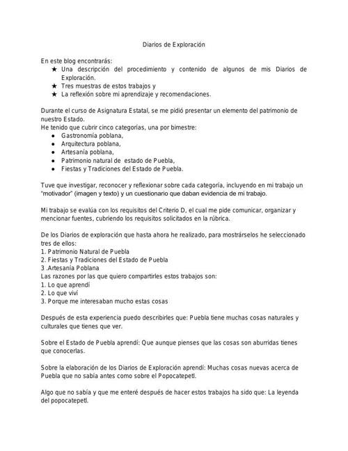 DIARIO DE EXPLORACIÓN BLOG ASIGNATURA gonzalo