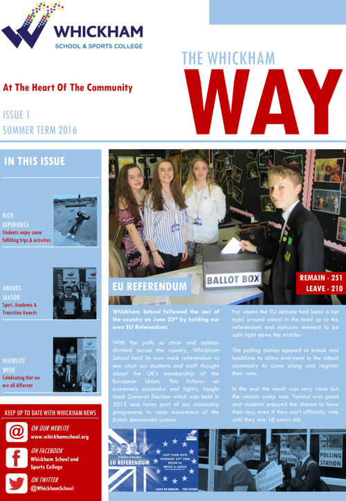 THE WHICKHAM WAY ISSUE 1