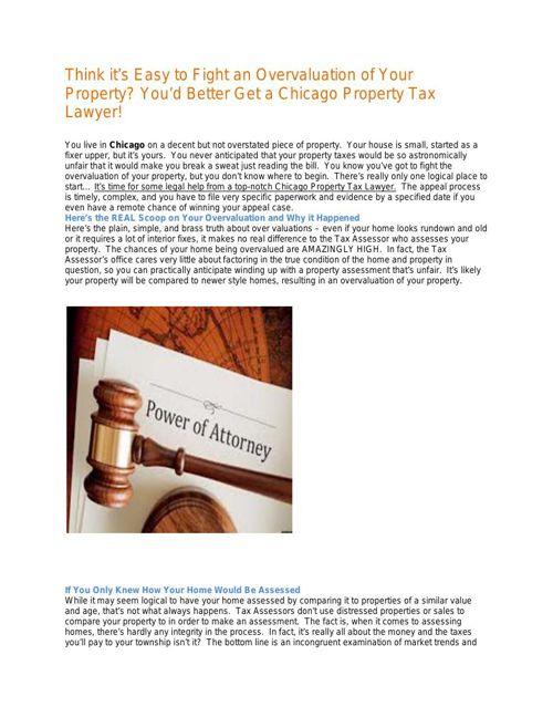 Chicago Property Tax Lawyer Helps To Reduce Tax Bill- Saranow La