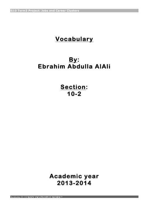 Act.[1.1] Vocab list1 ebrahim